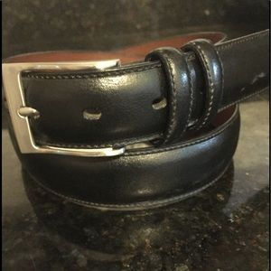 Perry Ellis men's black leather belt  34